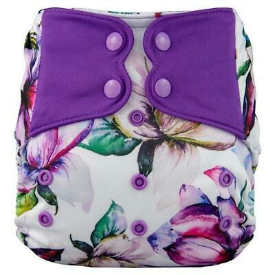 Modern Cloth Nappy Baby MCN Pocket Reusable Washable Elf Diaper Purple floral