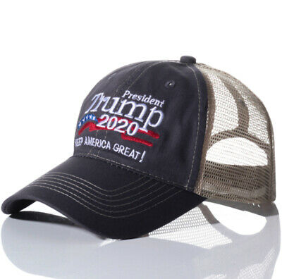 Donald Trump 2020 MAGA Embroidered Hat Keep Make America Great Again Mesh Cap US