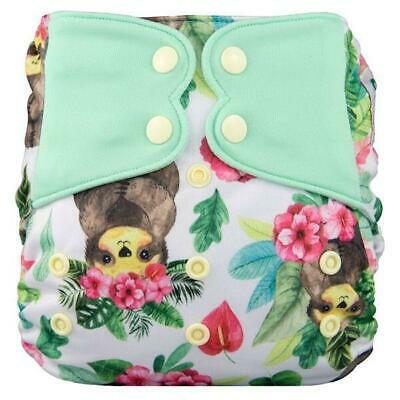 Modern Cloth Nappy Baby MCN Pocket Reusable OSFM Washable Elf Diaper Sloths