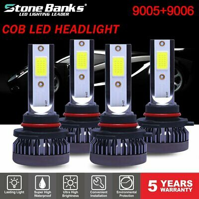 Mini 9005 + 9006 Combo LED Headlight Kit 55W 11000LM Hi/Lo Beam Bulbs 6000K