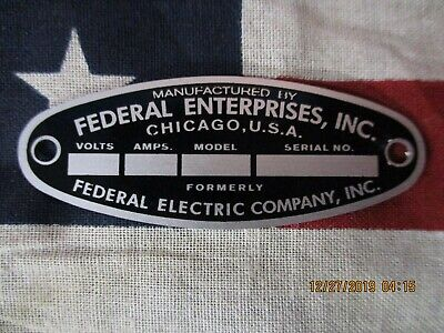 Federal Enterprise Replacement Badge Model 18 Solar Ray & 19 Propello Ray