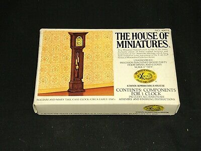 The House Of Miniatures No 40018 Grandfather Clock New in Box Dollhouse