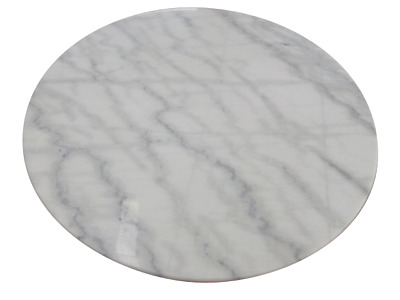White Marble table TOP ONLY 90cm diameter NEW in the box DELIVERED**