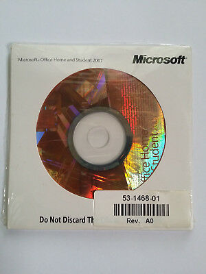 Microsoft Office 2007 Home and Student Full English Version  <BRAND NEW SEALED>