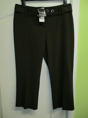"""Bnwt Next Size 14 Womens Brown Cropped Tailored Trousers L22"""""""