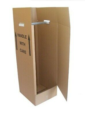 1 New Wardrobe Cardboard Moving Box Brown in colour
