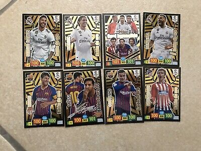 Set Completo 5 Cards Balon De Oro + Card Invencible + Messi Firmada + Benzema