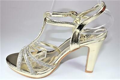 Womens Ladies Strappy Studded Stiletto High Heel Ankle Strap Open Toe Sandals