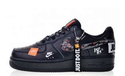 NIKE AIR FORCE 1 Low Utility Just Do It Black White Men