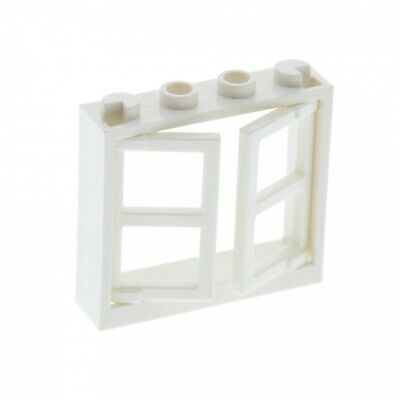 LEGO 20 x Fenstereinsatz gelb Yellow Window 1x2x3 Pane Thick Corner Tabs 60608