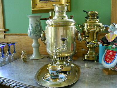LARGE & RARE,1840's IVAN BATASHEV FACTORY IN TULA,IMPERIAL RUSSIAN BRASS SAMOVAR