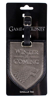 Game of Thrones Winter Is Coming House Stark Luggage Tag .Free UK Postage