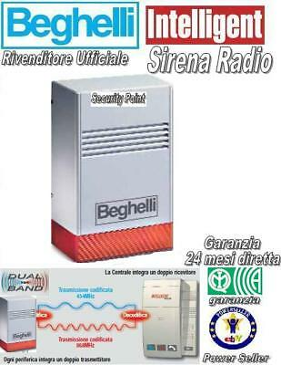 BEGHELLI INTELLIGENT TASTIERA RADIO DUAL BAND ANTIFURTO ALLARME PILA LITIO LED !