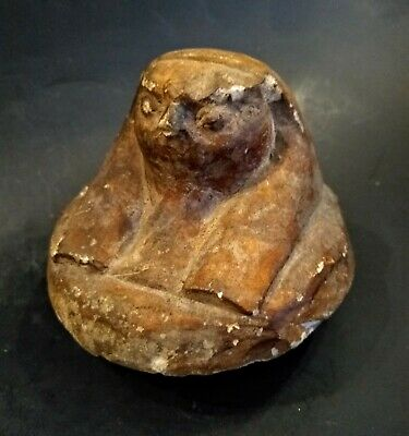 Ancient Canopic Jar Lid of Qebehsenuf - EGYPT - Late Period 712 -323 BC