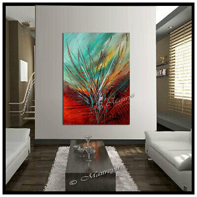 Red Passion - ART Abstract painting on canvas large Wall modern art, Original