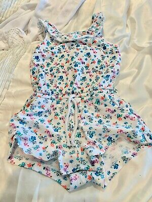 Next Little Girl Playsuit Floral Summer Outfit 12-18 Months