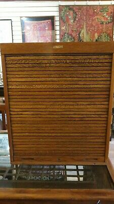 Antique Stanley Roll Top Tambour Door Tool Chest No. 850