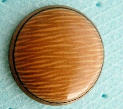 Victorian 19c button overcoat enameled gold &beige melange color tinted metal