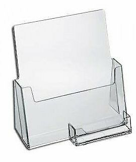 """SourceOne Premium Brochure Holder for 8.5"""" Booklet - with Business Card Containe"""
