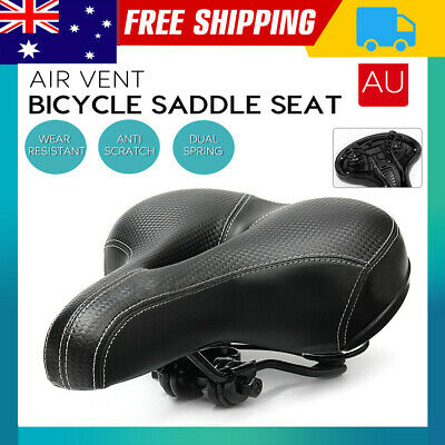 2X Bicycle Saddle Road MTB Mountain Bike Spring Seat Soft Padded Cushion Cover
