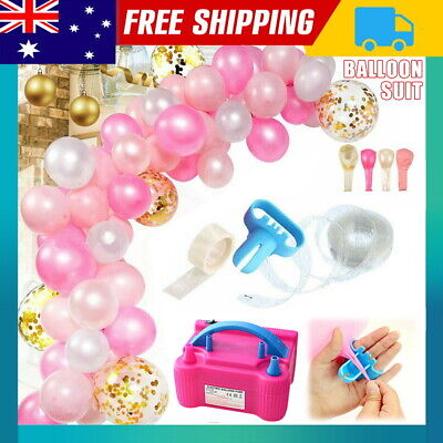 Air Balloon Pump 2Nozzle Electric Automatic Portable 600W Inflator Connect Chain