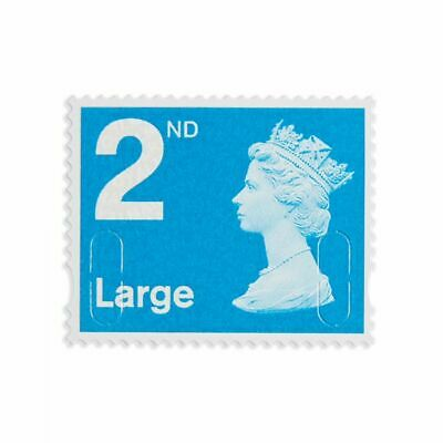 10 x LARGE 2ND Class STAMPS Royal Mail Post Office