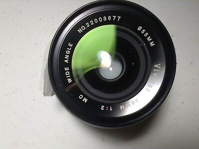 Vivitar 28mm f/2 Auto Wide Angle Manual lens For Olympus OM Mount Adaptable