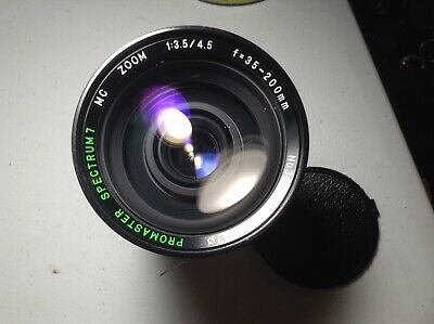 PROMASTER SPECTRUM 7 MC Zoom 1:35/4.5 f=35-200MM CAMERA LENS for Canon FD
