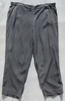 Pure J JILL Gray Tencel Lyocell Pull On Tapered Leg Ankle Pants size XL Pockets