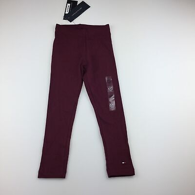 Girls size 2-3, Tommy Hilfiger, maroon leggings elasticated, NEW