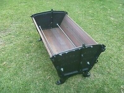 VINTAGE MASSEY HARRIS CAST IRON SEED BOX ENDS great