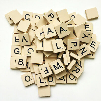 Wooden Scrabble Puzzle Pieces Kids Children Early Learning Educational Toy New