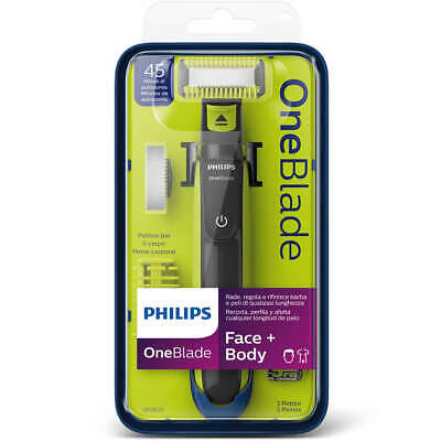 Philips One Blade Visage Barbe Corps Rasoir Oneblade 2 Lames 3 Sabots QP2620/20