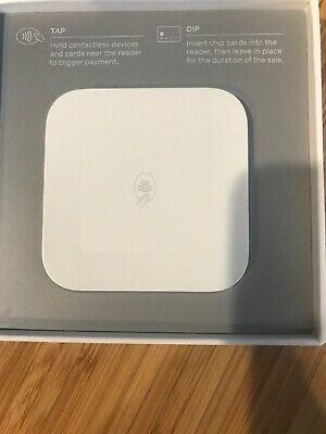 Square Contactless Credit Card and Chip Reader - White - A-SKU-0113
