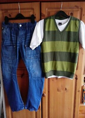 Boys Next Outfit tank Top Set And Jeans 10-11 Years