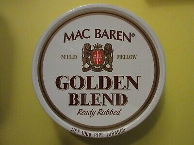 Alte Blechdose Dose Mac Baren, Golden Blend, Ready Rubbed, 100 gr,  Leer
