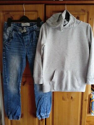 Boys Outfit Next Jeans And F&F Hooded Jumper 10-11 Years