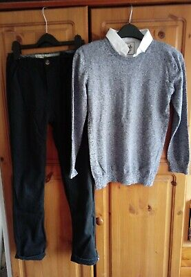 Boys Outfit Matalan Jumper and Denim Co Trousers 10-11 Years