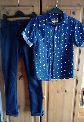 Boys Outfit Next Trousers and Rebel Shirt 10-11 Years