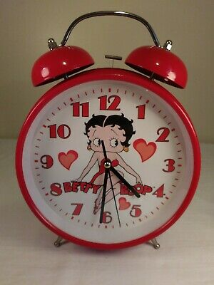 Betty Boop Large Red Alarm Clock Dress & Hearts *TESTED AND WORKS*