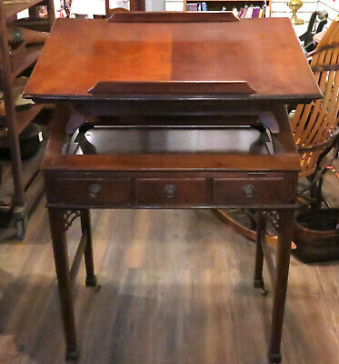Antique George III Mahogany Adjustable Architects Table or Standing Desk