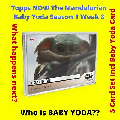 NEW Baby Yoda Star Wars The Mandalorian TOPPS NOW 5-Card Pack S1 Chapter 8