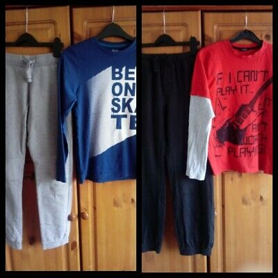 Boys Outfits bundle Next/Matalan Jogging bottoms and George/F&F Tops 10-11 Years