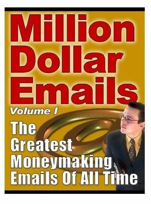 Million Dollar Emails **Buy it Now** (eBook-PDF file) FREE SHIPPING  99 Cent.