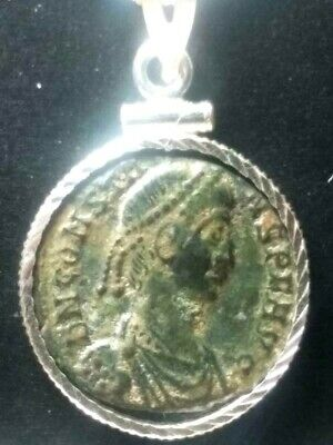 Constans Chi-Rho Standard Authentic Ancient Roman Coin Sterling Pendant Necklace