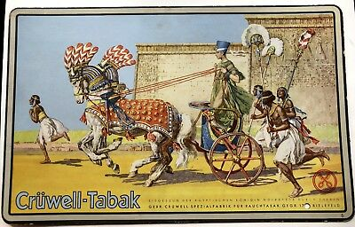 Authentic 1920s Cruwell-Tabak German Tobacco-Sign Display Egyptian Queen Picture