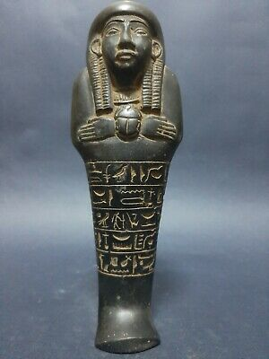 ANCIENT EGYPTIAN ANTIQUES USHABTI With Scarab HIEROGLYPHICS Servant Minions BC