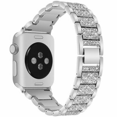 Diamond Stainless Steel Band iWatch Strap For Apple Watch Series 5 4 3 2 1