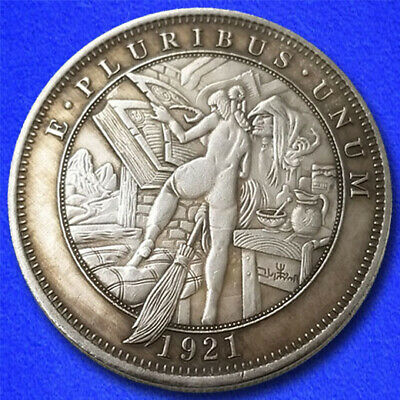 """Witch """"Hobo Nickel"""" on Morgan Dollar Coin **"""