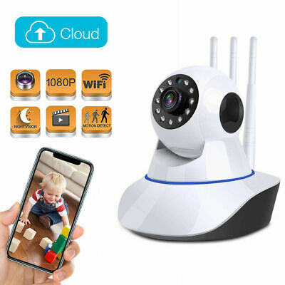 1080P HD Wireless IP Security Camera Indoor CCTV Home Smart Wifi Baby Monitor+SD